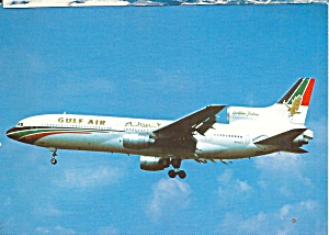 Gulf Air L-1011 N81027 on Final postcard cs10423 (Image1)