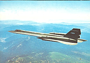 Usaf Sr 71 Blackbird In Flight Postcard Cs10434