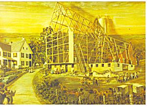 Amish Barn Raising Artwork Postcard cs1043 (Image1)