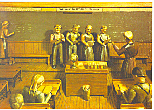 Amish Scholars at Work  Artwork Postcard cs1046 (Image1)