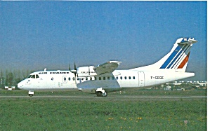 Air France Atr-42-300 F-gege Postcard Cs10479