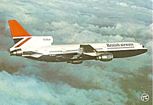 British Airways L-1011 Tristar G-bbaf Postcard Cs10489