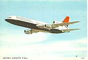 British Airways L-1011 TriStar in Flight postcard cs10490 (Image1)