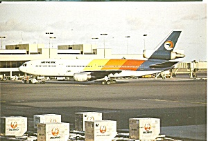 Air Pacific Dc-10-30 N821l Postcard Cs10501