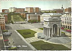 Genova Genoa Italy Plazza della Vitoria postcard cs10509 (Image1)