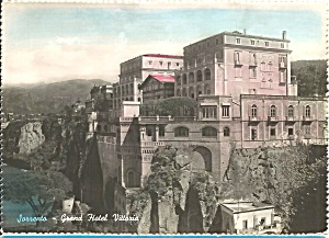 Sorrento Italy Grand Hotel Vittoria postcard cs10156 (Image1)