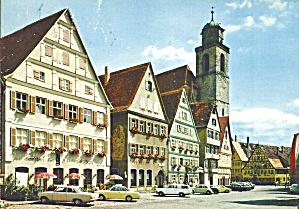 Dinkelsbuhl Bavaria Germany Marketplace Church Cs10532