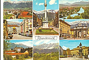 Innsbruck Austria Eight Views postcard cs10541 (Image1)