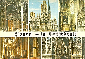 Rouen France Views Of The Cathedral Postcard Cs10543