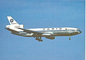 Varig Brasil Dc-10-30 On Final Postcard Cs10572