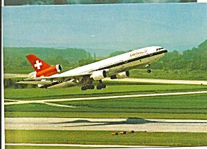 SWISSAIR DC-10-30 Takeoff postcard cs10582 (Image1)