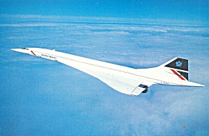 British Airways Concorde In Flight Postcard Cs10591
