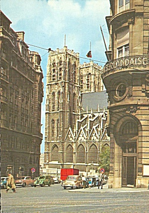 Brussels Belgium St Michael Cathedral Postcard Cs10594