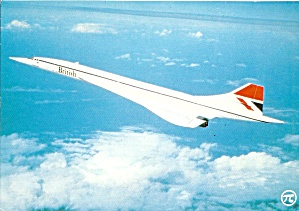 British Airways Concorde In Flight Postcard Cs10596