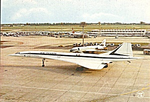 Air France Concorde Taxiing Postcard Cs10597