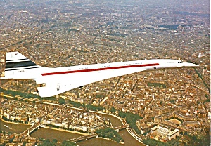 Sud Aviation France Concorde F-wtss In Flight Cs10605