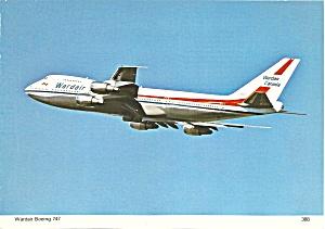 Wardair Canada 747 postcard cs10644 (Image1)