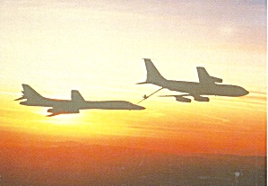Usaf Rockwell Boeing B 1a Refueling At Sunset Cs10707