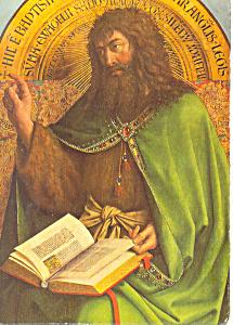 Van Eyck Saint John the Baptist Postcard cs1074 (Image1)