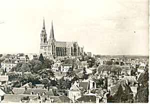 France Chartres Cathedral Postcard Cs1076