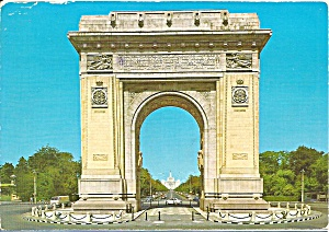 Buchrest Romania The Arch Of Triumph Cs10897