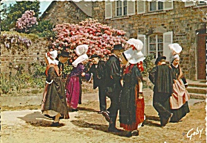 Normandy France People In Native Costume Cs10898