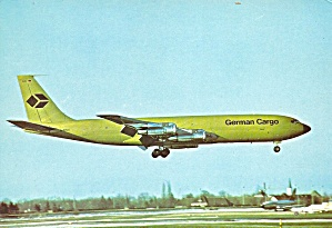 German Cargo 707-330c At Munich Cs10959