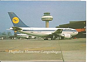 Hannover Airport Lufthansas Airbus A310 at Gate cs10968 (Image1)