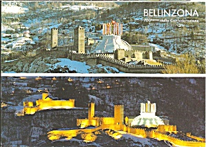 Bellinzona Switzerland Two Views Cs11071