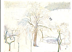 Winter Landscape With Fishpond Cuno Amiet Postcard Cs11078