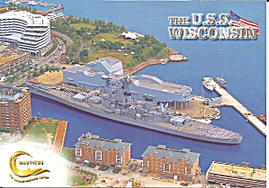 Uss Wisconsin Bb-64 At Norfolk Va Cs11105