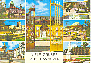 Views of Hannover Germany Postcard cs1112 (Image1)