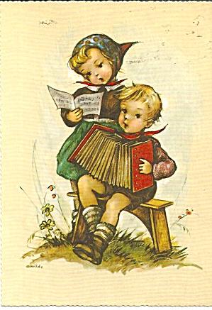 Hummel Like Children Postcard cs11183 (Image1)