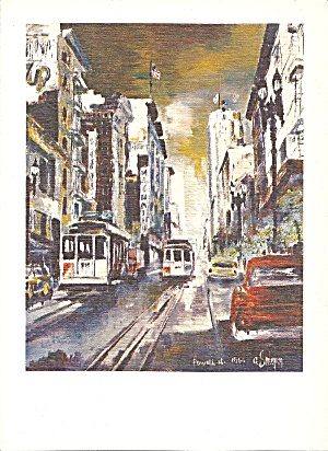 San Francisco Cable Cars From Painting Cs11186