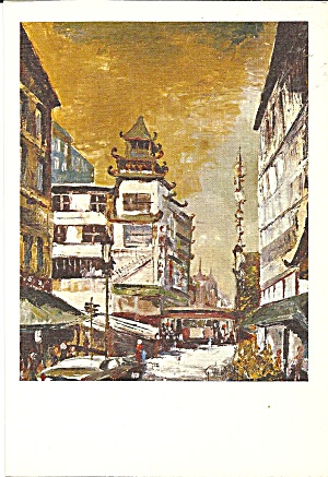 San Francisco Chinatown From Painting Cs11188