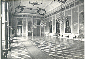 Hall in Castle, Breslau, Germany Postcard (Image1)