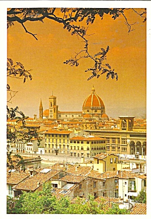 Florence Italy Cathedral Postcard Cs11214