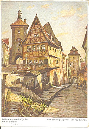 Rothenburg On Tauber From Painting Paul Sollmann Cs11217