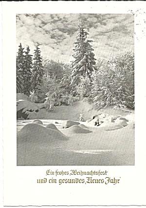 German Merry Christmas Happy New Year Postcard cs11228 (Image1)