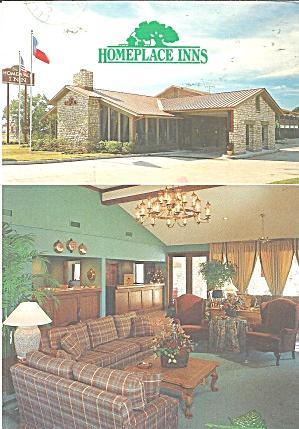 Texas Homeplace Inns Postcard cs11261 (Image1)