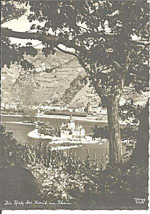German Castle on Island in Rhine River cs11270     (Image1)