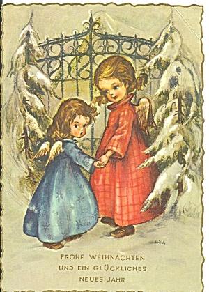 German Christmas Postcard  Little Angels cs11273   (Image1)