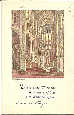 Cologne Germany Cathedral Interior Cs11277