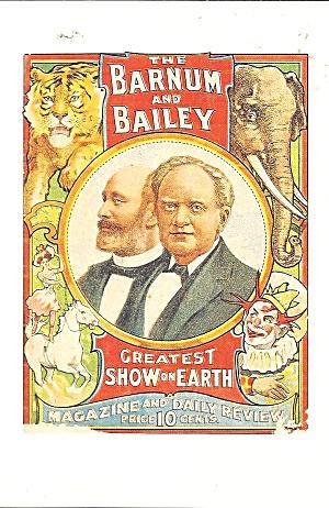 Sarasota Ringling Museum Barnum Bailey Poster Postcard cs11279 (Image1)