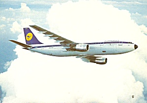 Lufthansa A300 In Flight Postcard Cs11327