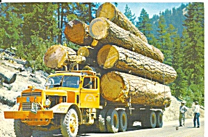 Logging Truck On Western Mountain Road Cs11335
