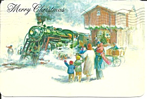 Christmas Post Card Featuring Steam Locomotive Cs11336