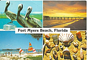 Fort Myers Beach Florida Post Card Cs11337