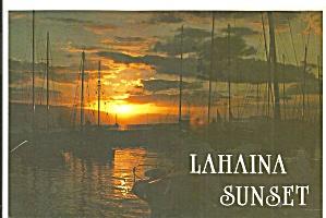 Sunset Over Lahaina Hawaii Post Card cs11339 (Image1)