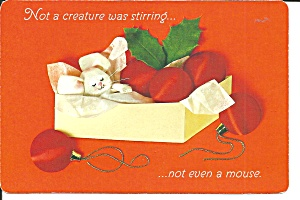 Christmas Postcard Sleeping Kitten Postcard Cs11341